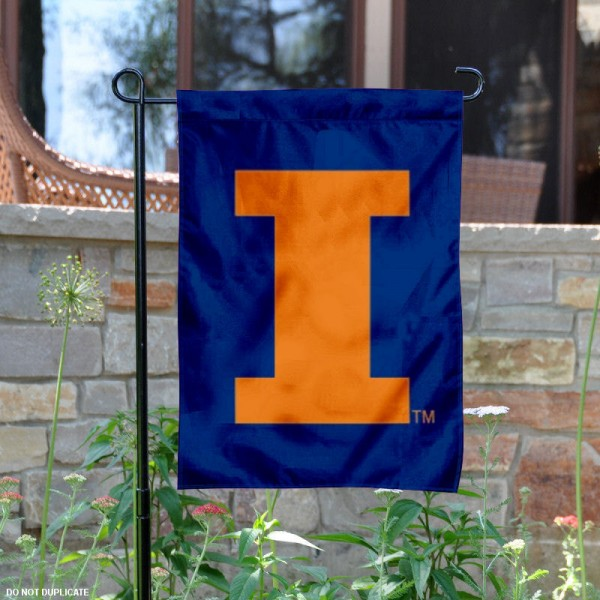 Illinois Fighting Illini Logo Garden Flag is 13x18 inches in size, is made of 2-layer polyester, screen printed Illinois Fighting Illini Bay athletic logos and lettering. Available with Same Day Express Shipping, Our Illinois Fighting Illini Logo Garden Flag is officially licensed and approved by Illinois Fighting Illini Bay and the NCAA.
