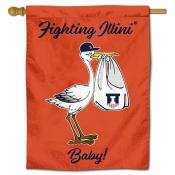 Illinois Fighting Illini New Baby Flag