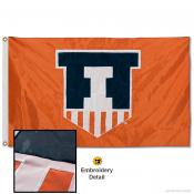 Illinois Fighting Illini Nylon Embroidered Flag