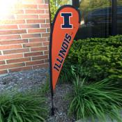 Illinois Fighting Illini Small Feather Flag