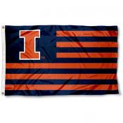 Illinois Fighting Illini Striped Flag