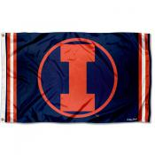 Illinois Fighting Illini Throwback Vault Logo Flag