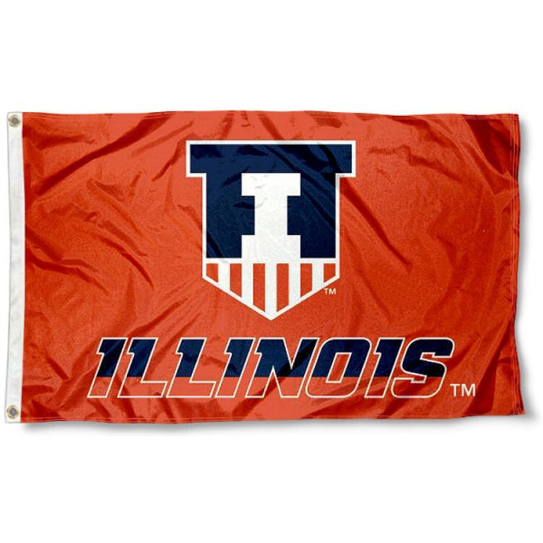 Illinois Fighting Illini Victory Badge Flag measures 3'x5', is made of 100% poly, has quadruple stitched sewing, two metal grommets, and has double sided U of I Illini logos. Our Illinois Fighting Illini Victory Badge Flag is officially licensed by the selected university and the NCAA.