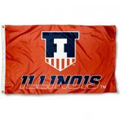 Illinois Fighting Illini Victory Badge Flag