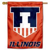 Illinois Illini Victory Badge Crest Banner Flag