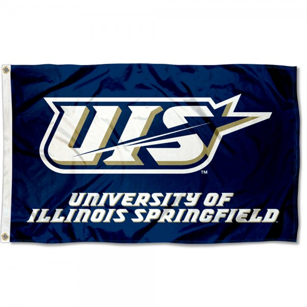 Illinois Springfield Prairie Stars Flag measures 3x5 feet, is made of 100% polyester, offers quadruple stitched flyends, has two metal grommets, and offers screen printed NCAA team logos and insignias. Our Illinois Springfield Prairie Stars Flag is officially licensed by the selected university and NCAA.