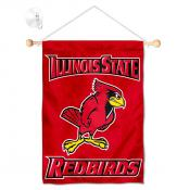 Illinois State Redbirds Banner with Suction Cup