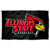 Illinois State Redbirds Black Flag