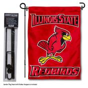 Illinois State Redbirds Garden Flag and Pole Stand