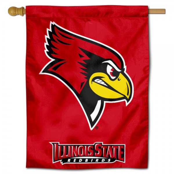 "Illinois State Redbirds House Flag is constructed of polyester material, is a vertical house flag, measures 30""x40"", offers screen printed athletic insignias, and has a top pole sleeve to hang vertically. Our Illinois State Redbirds House Flag is Officially Licensed by Illinois State Redbirds and NCAA."