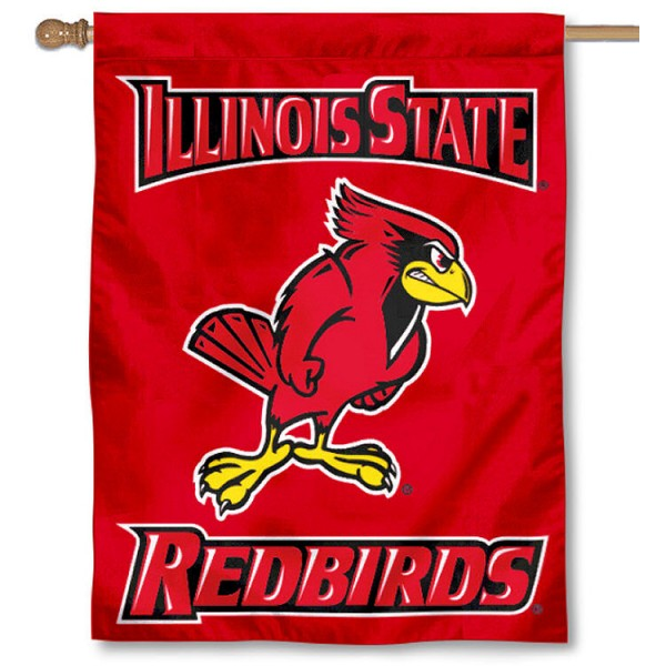 Illinois State University House Flag is a vertical house flag which measures 30x40 inches, is made of 2 ply 100% polyester, offers dye sublimated NCAA team insignias, and has a top pole sleeve to hang vertically. Our Illinois State University House Flag is officially licensed by the selected university and the NCAA.
