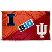 Illinois vs. Indiana House Divided 3x5 Flag