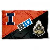 Illinois vs. Purdue House Divided 3x5 Flag