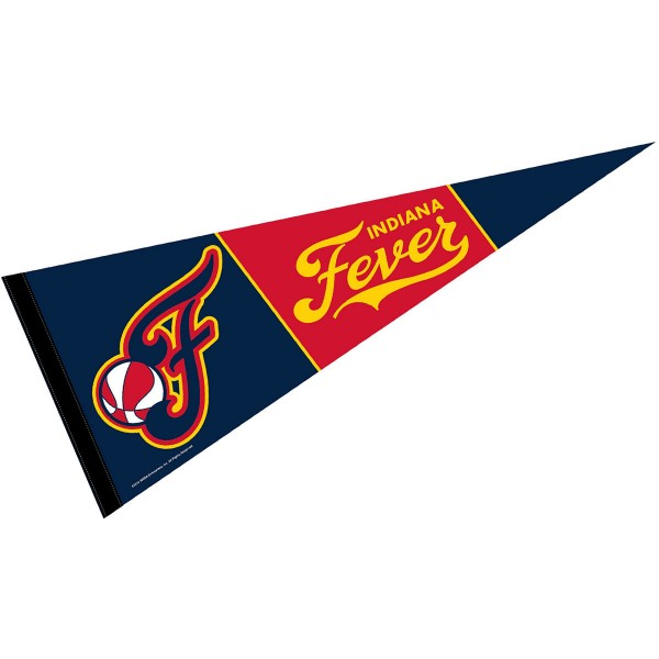 Indiana Fever Pennant is our WNBA team pennant which measures 12x30 inches, is made of soft wool and felt blends, has a pennant sleeve, and is single sided screen printed. Our Indiana Fever Pennant is perfect for showing your WNBA team allegiance in any room of the house and is WNBA officially licensed