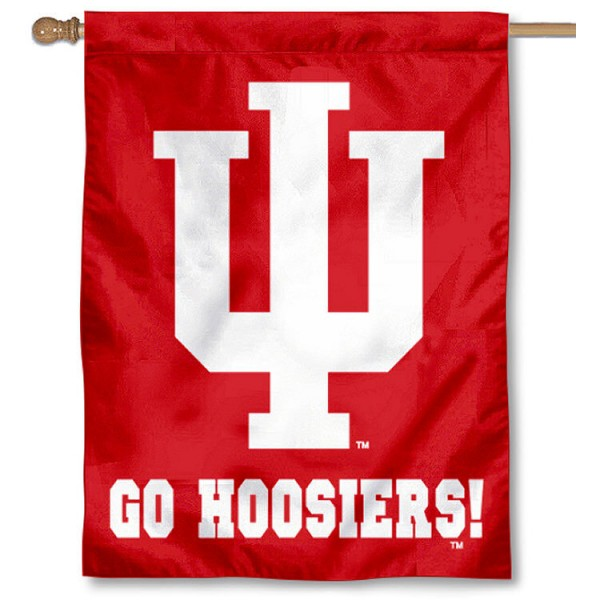 Indiana Go Hoosiers House Flag is a vertical house flag which measures 30x40 inches, is made of 2 ply 100% polyester, offers dye sublimated NCAA team insignias, and has a top pole sleeve to hang vertically. Our Indiana Go Hoosiers House Flag is officially licensed by the selected university and the NCAA.