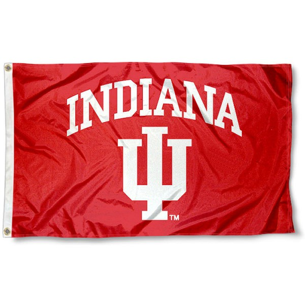 Indiana Hoosiers College Flag is made of Poly, Screen Printed logos of Indiana Hoosiers , 3'x5' in Size, and Viewable from Both Sides. These Flags for Indiana Hoosiers are a NCAA Licensed Product.