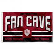 Indiana Hoosiers Fan Man Cave Game Room Banner Flag