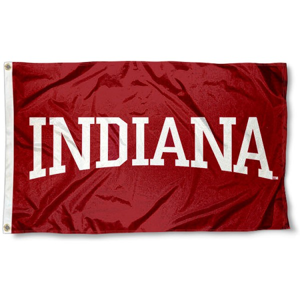 Indiana Hoosiers Flag measures 3'x5', is made of 100% poly, has quadruple stitched sewing, two metal grommets, and has double sided Indiana University logos. Our Indiana Hoosiers Flag is officially licensed by the selected university and the NCAA