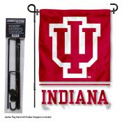 Indiana Hoosiers Garden Flag and Stand