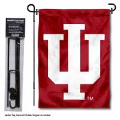 Indiana Hoosiers Trident IU Garden Flag and Pole Stand Mount