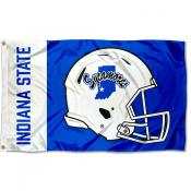 Indiana State Sycamores Football Helmet Flag
