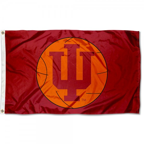 Indiana University Basketball Flag measures 3'x5', is made of 100% poly, has quadruple stitched sewing, two metal grommets, and has double sided Team University logos. Our Indiana University Basketball Flag is officially licensed by the selected university and the NCAA.