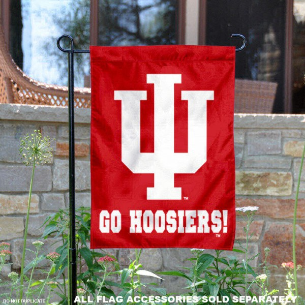 Indiana University Go Hoosiers Garden Flag is 13x18 inches in size, is made of 2-layer polyester, screen printed Indiana University Go Hoosiers athletic logos and lettering. Available with Same Day Express Shipping, Our Indiana University Go Hoosiers Garden Flag is officially licensed and approved by Indiana University Go Hoosiers and the NCAA.