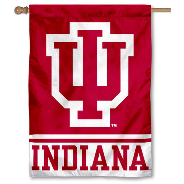 Indiana University Hoosiers Double Sided Banner is a vertical house flag which measures 28x40 inches, is made of 2 ply 100% nylon, offers screen printed NCAA team insignias, and has a top pole sleeve to hang vertically. Our Indiana University Hoosiers Double Sided Banner is officially licensed by the selected university and the NCAA.