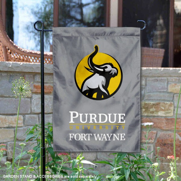 Indiana University-Purdue University Fort Wayne Academic Logo Garden Flag is 13x18 inches in size, is made of 2-layer polyester, screen printed university athletic logos and lettering, and is readable and viewable correctly on both sides. Available same day shipping, our Indiana University-Purdue University Fort Wayne Academic Logo Garden Flag is officially licensed and approved by the university and the NCAA.