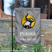 Indiana University-Purdue University Fort Wayne Academic Logo Garden Flag