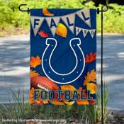 Indianapolis Colts Fall Football Leaves Decorative Double Sided Garden Flag