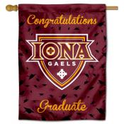 Iona College Gaels Congratulations Graduate Flag