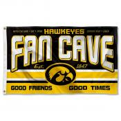 Iowa Hawkeyes Fan Man Cave Game Room Banner Flag
