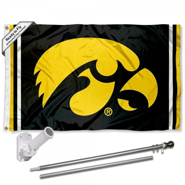 Iowa Hawkeyes Flag Pole and Bracket Kit