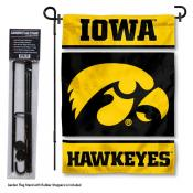 Iowa Hawkeyes Garden Flag and Stand