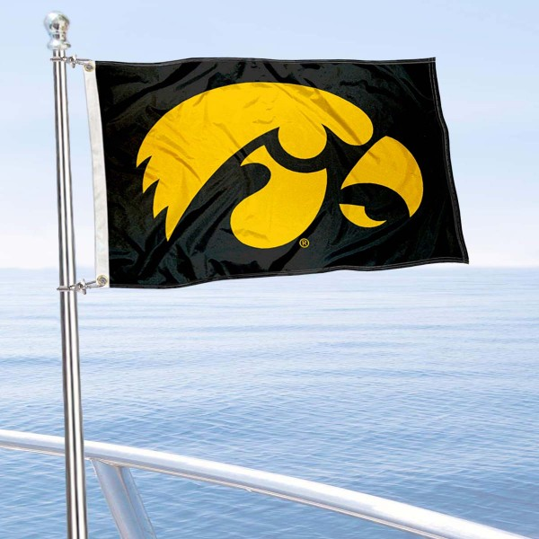 Iowa Hawkeyes Golf Cart Flag is a small 12x18 inches, made of 2-ply polyester with quad stitched flyends, and is double-sided. Our Golf Cart Logo Flags are Officially Licensed and Approved by Iowa Hawkeye and NCAA.