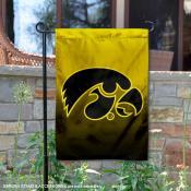 Iowa Hawkeyes Gradient Ombre Logo Garden Flag