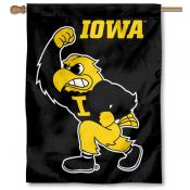 Iowa Hawkeyes Herky the Hawk House Flag