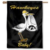 Iowa Hawkeyes New Baby Flag