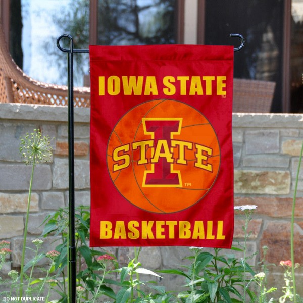 Iowa State Basketball Garden Banner is 13x18 inches in size, is made of 2-layer polyester, screen printed athletic logos and lettering. Available with Same Day Express Shipping, Our Iowa State Basketball Garden Banner is officially licensed and approved by the school and the NCAA.