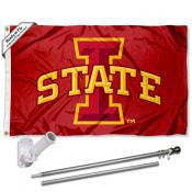 Iowa State Cyclones Flag Pole and Bracket Kit