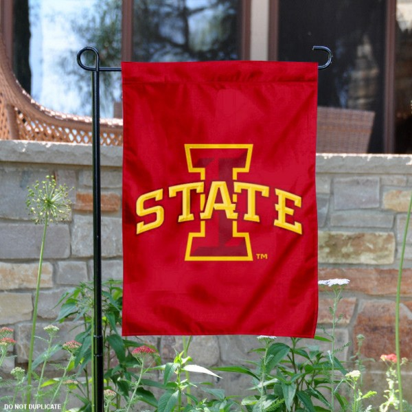 Iowa State Cyclones Yard Flag is made of 100% nylon, measures 13x18 inches, and has screen printed NCAA School insignias and lettering. The Iowa State University Garden Flag is approved by Iowa State University and NCAA and university garden flags are great for your entranceway, garden, yard, mailbox, or window.