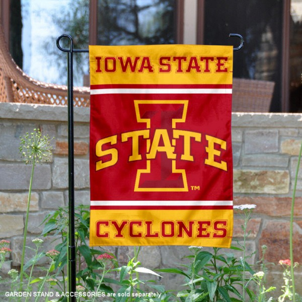 Iowa State Garden Flag is 13x18 inches in size, is made of 2-layer polyester, screen printed logos and lettering. Available with Same Day Express Shipping, Our Iowa State Garden Flag is officially licensed and approved by the NCAA.