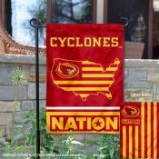 Iowa State Garden Flag with USA Country Stars and Stripes