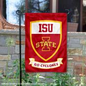 Iowa State Go Cyclones Shield Garden Flag
