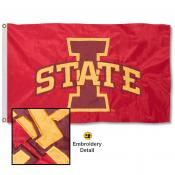 Iowa State University Nylon Embroidered Flag