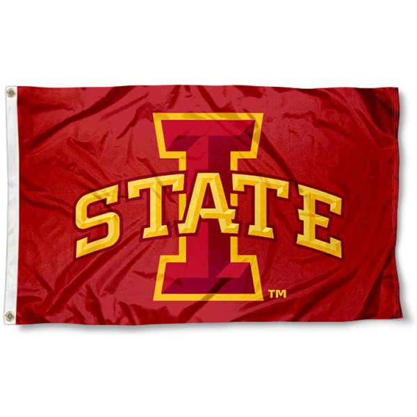 Iowa State University Polyester Flag measures 3'x5', is made of 100% poly, has quadruple stitched sewing, two metal grommets, and has double sided Iowa State University logos. Our Iowa State University Polyester Flag is officially licensed by the selected university and the NCAA
