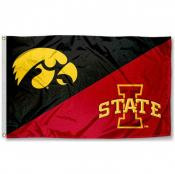 Iowa vs. Iowa State House Divided 3x5 Flag