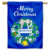 ISU Sycamores Happy Holidays Banner Flag