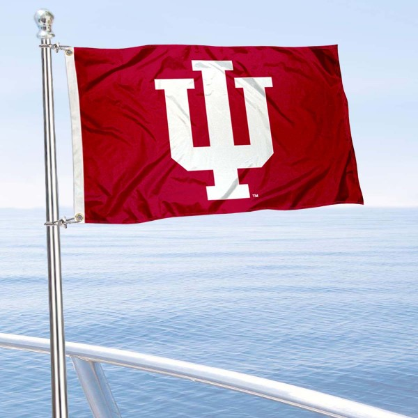 IU Golf Cart Flag is a small 12x18 inches, made of 2-ply polyester with quad stitched flyends, and is double-sided. Our Golf Cart Logo Flags are Officially Licensed and Approved by IU Hoosiers and NCAA.